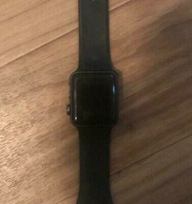 Apple Watch Series 3 38MM GPS Space Gray with Black Sport Band MQKV2LL/A