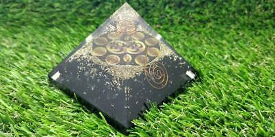 X-Large 70-75MM Black Tourmaline Orgone Pyramid Healing Orgone Pyramid Kit Emf