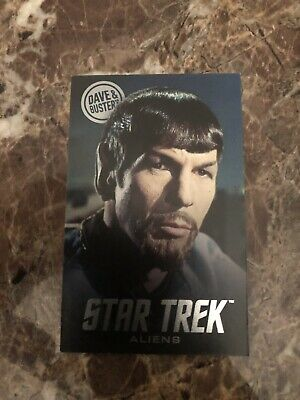 Dave and Buster's Star Trek Coin Pusher Mirror Spock Card