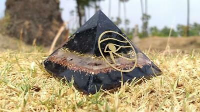 X-LG 70-75 Orgone Pyramid Black Tourmaline Selenite EMF Protection For Charging