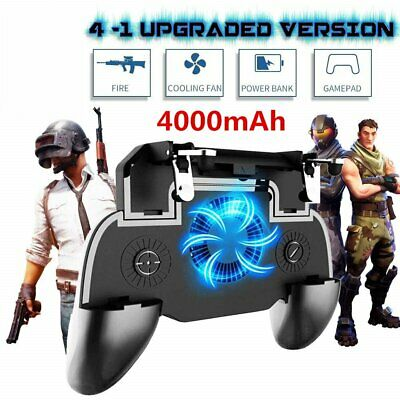 Mobile Game Controller Joystick Cooling Fan Gamepad Android IOS IPhone PUBG USA