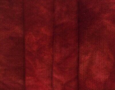 """""""Old Glory Red"""" hand dyed rug hooking wool fabric - (1) Fat Quarter 100% Wool"""