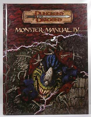 Monster Manual IV Dungeons & Dragons D&D 3rd Edition