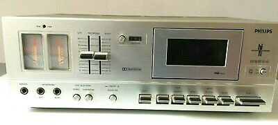 Rare Vintage retro philips Stereo Cassette Tape Deck Player Recorder HiFi  N2534