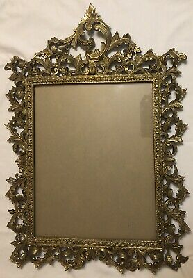 Antique 19C. Ornate Gilt Bronze Gold X-Large Picture Frame
