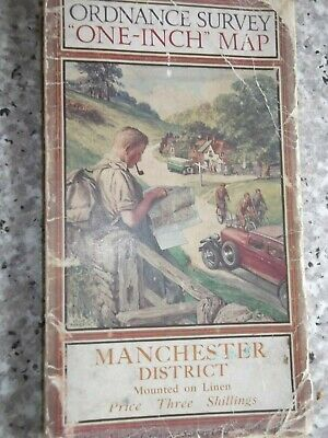 Ordnance Survey One-Inch District Map Manchester.Linen..