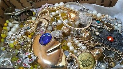 #11 Vintage To Now Estate Find Jewelry Lot Junk Drawer Unsearched Untested Wear
