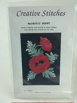 Creative Stitches Majestic Poppy Pattern