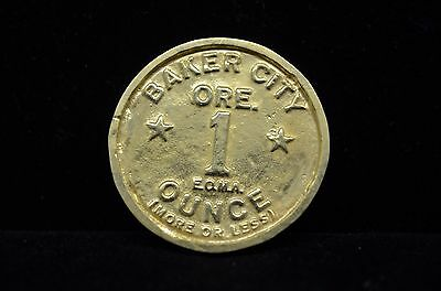 1984 Baker City Oregon One Ounce Native Gold Poured Round -Only 100 Made