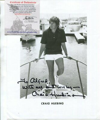 GET SMART ironside MAROONED actor CRAIG HUEBING with COA autograph SIGNED 3778
