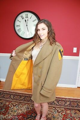US WW2 1st Cavalry Division Named Officer's Overcoat Coat Jacket. Silver Star!