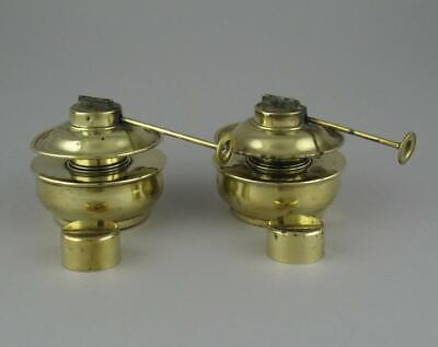 Pair Antique Brass Boyd's Patent Spirit Burners Food Warmer Kettle Chafing Dish
