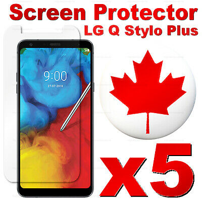 Premium Tempered Glass Screen Protector For LG Q Stylo Plus (5 PACK)