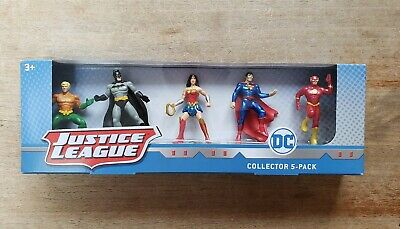 JUSTICE LEAGUE 5-Pack BATMAN, WONDER WOMAN, SUPERMAN, AQUAMAN, THE FLASH New!