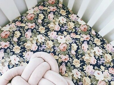 Payton Floral COT FITTED SHEET
