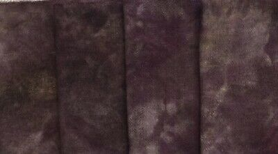 """""""Chimney Soot"""" dyed rug hooking wool fabric - (1) Fat Quarter 100% Wool"""