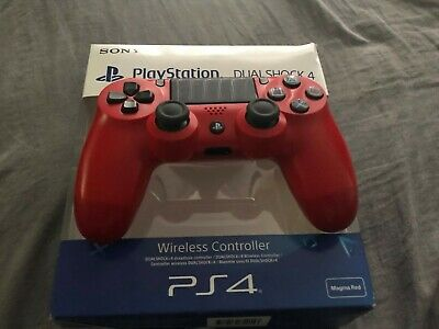Sony Official Dualshock 4 Controller (Magma Red) (PS4) V2