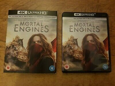 4K Disc Uhd Hdr Mortal Engines + Blu Ray + Digital + Sleeve Pal Used Excellent