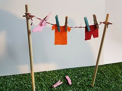 Cute fairy clothes line and pegs with new spring clothing range.