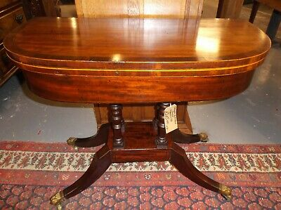 A Lovely Mid Victorian Mahogany Flip Top Card Or Games Table