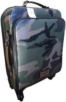 $595  F72943 Brand New COACH  Wheeled Carry on  Travel Luggage with Camo Print