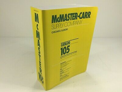 McMaster-Carr Supply Company Catalog Number 105 Chicago, IL 1999