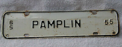 1965 Pamplin Virginia License Plate Topper