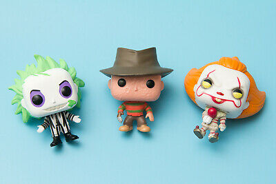FunkO's Cereal Pocket Pop Figure Lot | Freddy Kruger / Pennywise / Beetlejuice