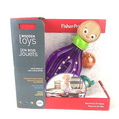 Fisher-Price Wooden Toys Sea Party Octopus 18M + Developmental Baby Toy