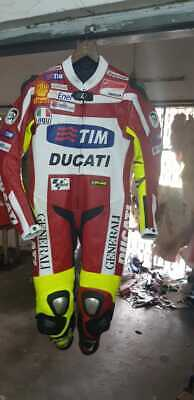 Ducati Tim Motorbike Racing Suit Motorcycle Leather Sports Riding CE Protection