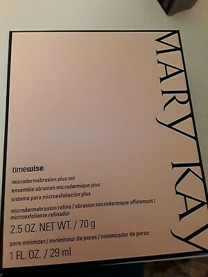 New in Box Mary Kay Timewise Microdermabrasion Plus Set Refine & Pore Free Ship