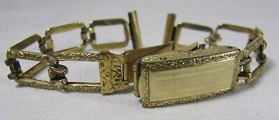Antique Art Deco Sturdymaid 12K Gold Filled Filigree Watch Band Hand Engraved
