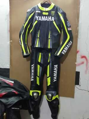 Yamaha Racing Motorbike Suit Motorcycle Leather Sports Riding Ride CE Armoured