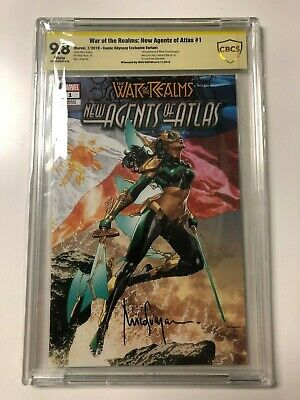 War of the Realms New Agents of Atlas #1 Suayan Variant CBCS 9.8 SS 1st Wave