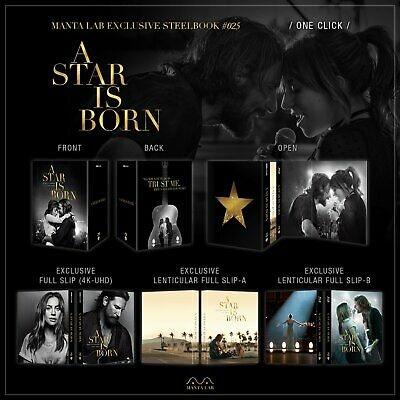 Manta Lab A Star Is Born Steelbook 4K (Extended Cut) One Click Box Set  Preorder