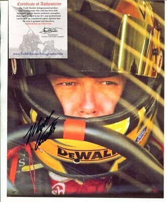 NASCAR driver MATT KENSETH with 2 COAS autograph SIGNED 4798