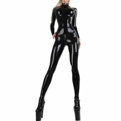 Women Latex Rubber Catsuits with Socks Gummi 0.4mm Unique Customize Large Size