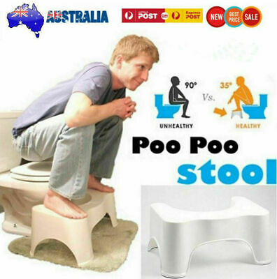 AU Squatty Step Toilet Stool Bathroom Potty Squat Aid For Constipation Relief