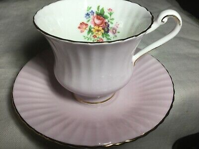 Paragon Bone China Pleated Cup/ Saucer.  England