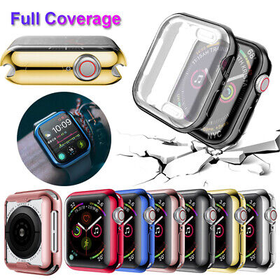 Film Full Coverage Soft Cover Watch TPU Case For Apple Watch Series 4 3 2