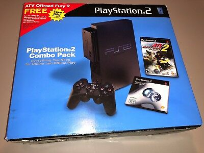 Sony PlayStation 2 Ps2 (SCPH-39001) Console Combo Pack Network Adapter New