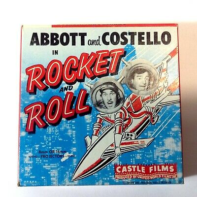 Vintage 8mm Super8 Movie Abbott & Costello in Rocket & Roll