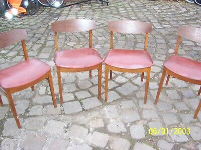 Beautility mid century vintage teak dining chairs x 4 project