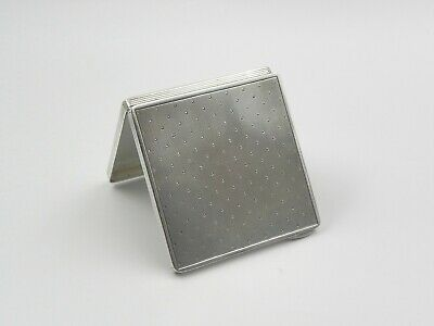 Art Deco FRENCH Silver (950) decorated CALLING CARD CASE - 98 gms - Lovely Cond.