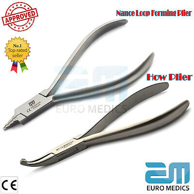 Orthodontic Surgical Dentist Plier Nance Loop Forming Pliers Dentistry Set Of 2