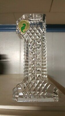 Waterford Crystal #1 Number One Paperweight Excellent Condition Award Gift