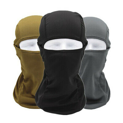 8793030f9 COTTON BLACK BALACLAVA Head Face Mask Hood Biker Motor Bike Helmet ...