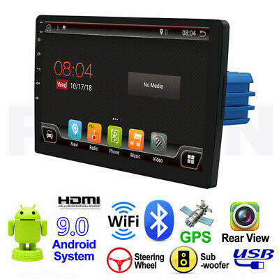 "10.1"" 4K Auto GPS Radio Player 1Din Android 9.0 8-Core 64G ROM HDMI Wifi DAB RDS"