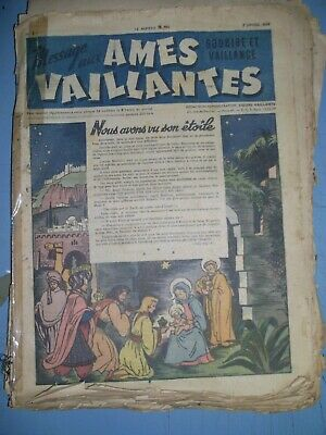 Ames Vaillantes mixed lot of 45 issues from 1947 french comics
