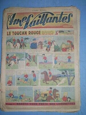 Ames Vaillantes mixed lot of 46 issues from 1949 french comics